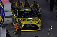 Matt Kenseth's day came to an end after losing an engine on lap 111.