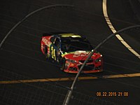 Jeff Gordon's drive for a sixth career victory at Bristol Motor Speedway came to an end on lap 93 for a loose wheel.