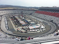 Bristol Motor Speedway, the track where the race will be held.