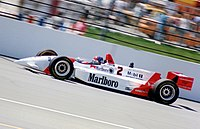 Emerson Fittipaldi racing in the Indianapolis 500 in 1994