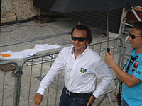 Emerson Fittipaldi in the 2011 São Paulo Indy 300. He waved the green flag at the start of the race.