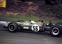 Emerson in the Jim Russell Racing Drivers School F3 Lotus 59 in the 1969 F3 Guards Trophy at Brands Hatch