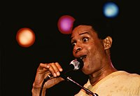 Al Jarreau during a concert in (West Germany) in early 1981