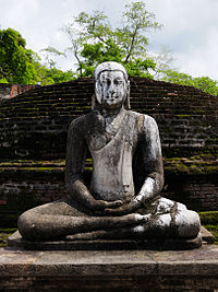A Buddhist statue in the ancient capital city of Polonnaruwa, 12th century