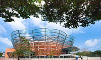 The Nelum Pokuna Mahinda Rajapaksa Theatre was constructed as a major venue for the performing arts