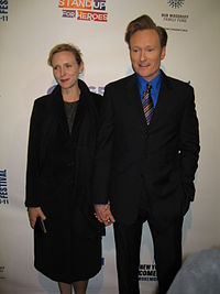O'Brien with his wife Liza in 2007
