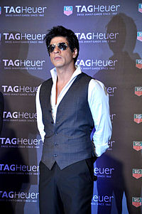 Khan at a Tag Heuer press conference, promoting the Carrera Monaco GP watch in 2012