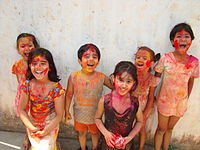 Holi is a major Indian festival celebrated every spring.