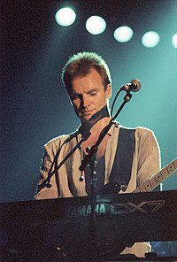 Sting performing as a solo artist in May 1986
