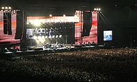 The Police (pictured on stage in the Stadio delle Alpi, Turin, in 2007) are known for their stadium rock