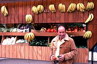 Fruit and vegetable stand in Little Havana, Miami (1980).