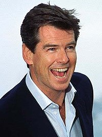Pierce Brosnan at the 2002 Cannes for the press conference of Die Another Day.