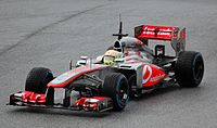 Pérez in the MP4-28 during winter tests at Jerez, in 2013