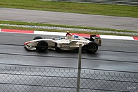 Pérez driving for Campos Grand Prix in the 2008–09 GP2 Asia Series