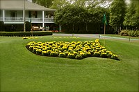 Masters logo at the club entrance