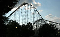 Dorney Park and Wildwater Kingdom's Steel Force and Thunderhawk roller coasters in Allentown