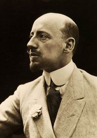 Gabriele D'Annunzio, national poet (vate) of Italy and a prominent nationalist revolutionary who was a supporter of Italy joining action in World War I