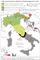 "Territory of the Italian Social Republic and the ""South Kingdom"""