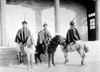 Italian mounted infantry in China during the Boxer Rebellion in 1900