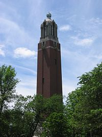 The Coughlin Campanile, a landmark on the campus of South Dakota State University in Brookings
