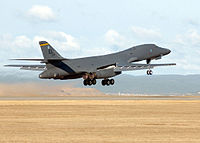 A B-1B Lancer lifts off from Ellsworth Air Force Base, one of South Dakota's largest employers