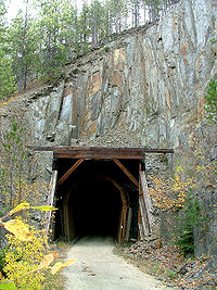 A tunnel along the George S. Mickelson Trail in the Black Hills