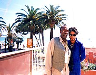Prince and Yul Anderson in Cannes, France, in 2000