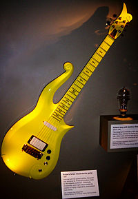 Prince's Yellow Cloud Guitar at the Smithsonian Institution Building