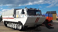 Floating fire and rescue vehicle of MES