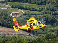 Italian AS365 Dauphin rescue helicopter