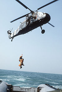 Royal Air Force Westland Wessex HC2 SAR helicopter off Hong Kong