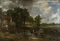 The Hay Wain by John Constable shows the Essex landscape on the right bank.