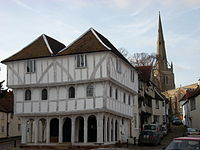 Thaxted Guildhall, <small>dating from around 1450</small>