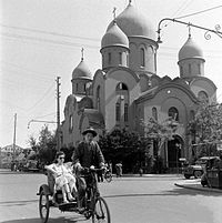 Russian Orthodox Church in Shanghai (c. 1948), whose 25,000-strong Russian community was one of China's largest