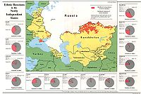 Ethnic Russians in former Soviet Union states in 1994