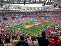 The Luzhniki Stadium in Moscow, which hosted games of the 2018 FIFA World Cup