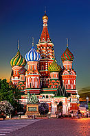 Saint Basil's Cathedral in Red Square, Moscow, one of the most recognisable symbols of the country