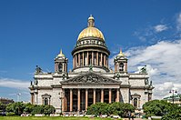 The neoclassical Saint Isaac's Cathedral in Saint Petersburg
