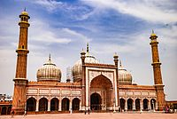 The Jama Masjid is one of India's largest mosques.