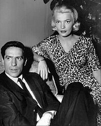 Cassavetes with his wife, actress Gena Rowlands in 1959
