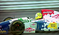 Fittipaldi driving for Footwork at the 1994 British Grand Prix.