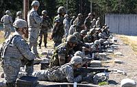 U.S. Army soldiers familiarizing with the latest INSAS 1B1 during exercise Yudh Abhyas 2015