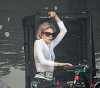 Grimes performing at Lollapalooza 2016