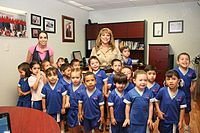 Sonoran children visiting the Office of Sonora State Deputy