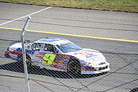 Chase's K&N Pro Series East car at Rockingham in 2012