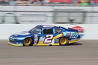 Brad Keselowski won the first race of the Chase for the Sprint Cup at Chicagoland