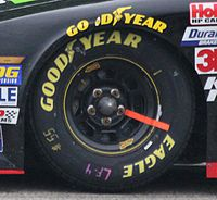 Rain tire used during the 2014 event