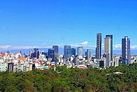 Mexico City – Largest metropolitan area in the Americas, with a population of 22,300,000 in 2017