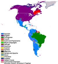 Languages spoken in the Americas
