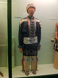 Traditional Potawatomi regalia on display at the Field Museum of Natural History
